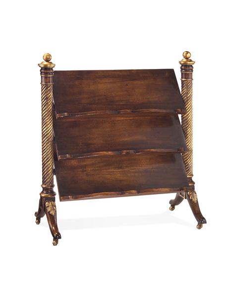 Wooden Magazine/Book Stand