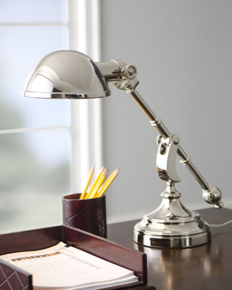 """Pimlico"" Silvery Desk Lamp"