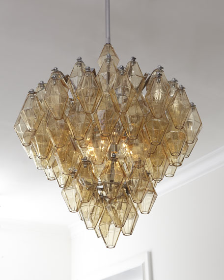 Amber glass chandelier mozeypictures Choice Image