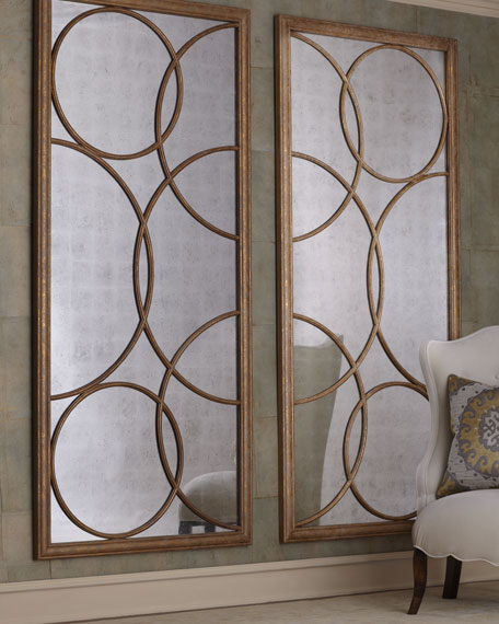 """Lattice"" Mirrored Wall Decor"