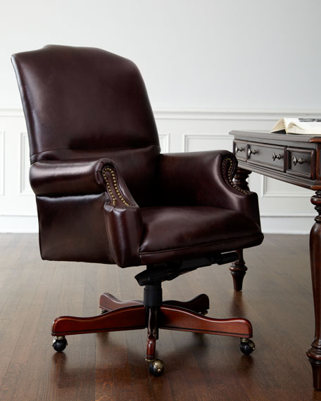 """Diego"" Leather Desk Chair"