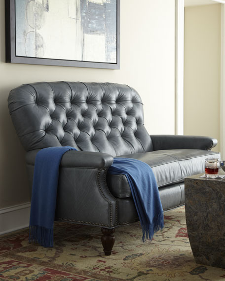 """Caron"" Leather Settee"