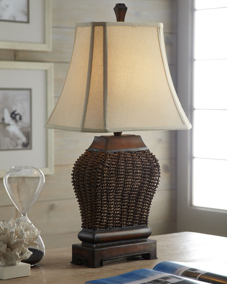 """Augustine"" Woven Lamp"