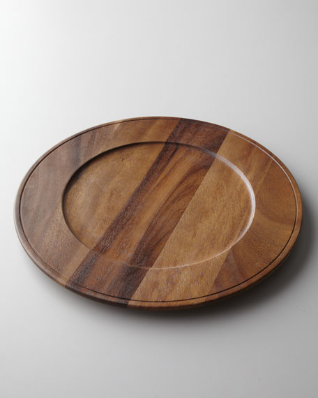 Four Acacia Charger Plates