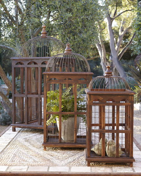 Birdcage Table Decor, Set of Three