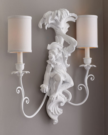 """Palm Beach"" Monkey Sconces"