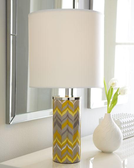 Mini Yellow Chevron Lamp