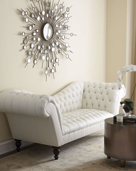 """Leala"" White Leather Sofa"