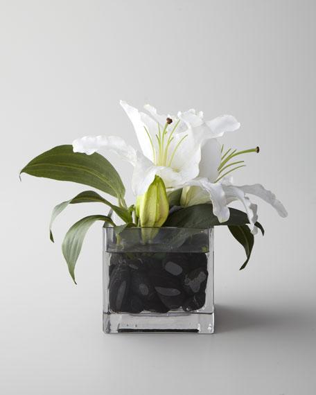 """Evening White"" Faux Floral"