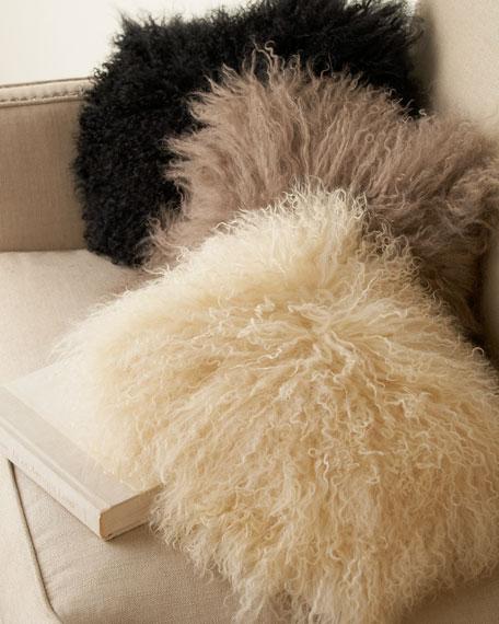 "Mongolian Lamb's Wool Pillow, 9"" x 12"""