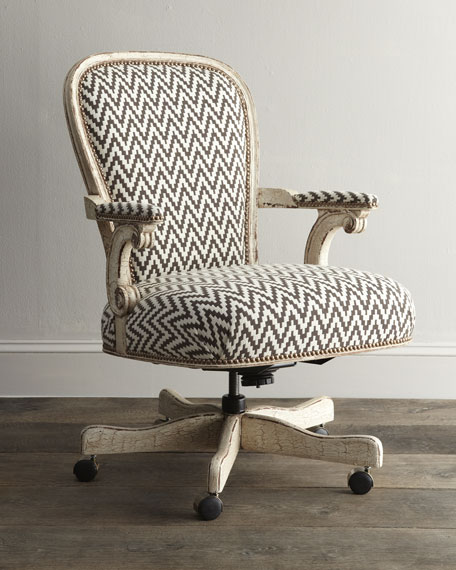 Merveilleux Old Hickory Tannery Cocoa Chevron Desk Chair