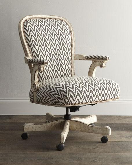 Cocoa Chevron Desk Chair