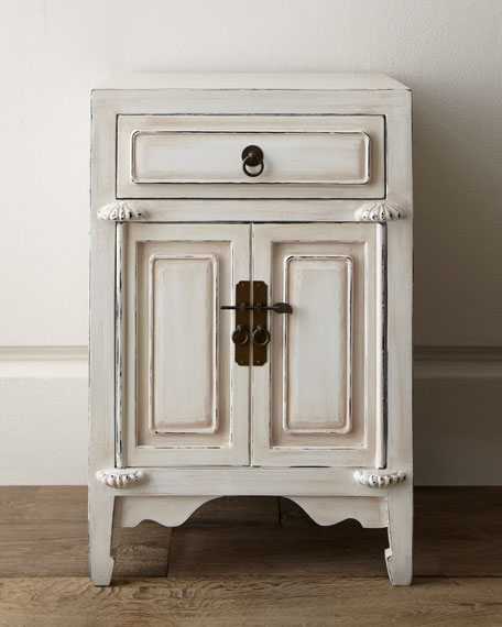 White Distressed File Box