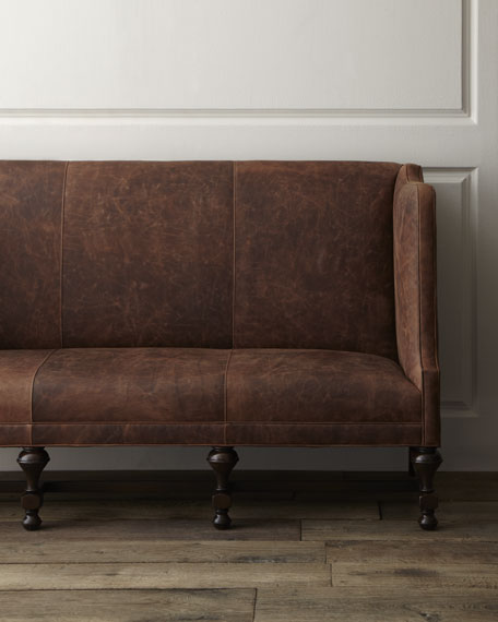 """""""Wiley"""" Leather Sofa"""