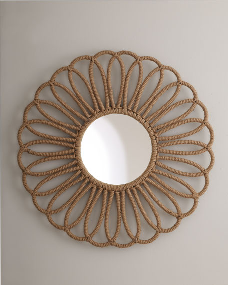 """Rope Flower"" Mirror"