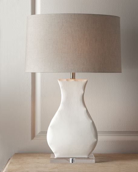 """""""Cinched"""" White-Base Lamp"""