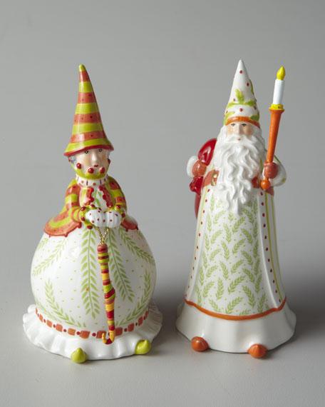 """Santa & Mrs. Claus"" Salt & Pepper Shakers"