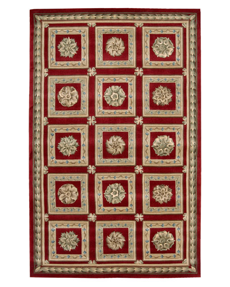 "Red Blocks Rug, 3'6"" x 5'6"""