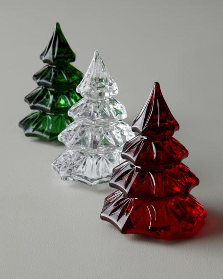 Three Mini Christmas Tree Sculptures