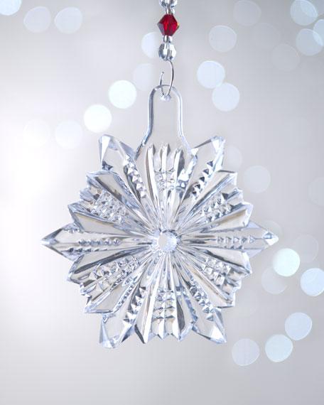 """Snow Crystal"" Pierced Snowflake Christmas Ornament"