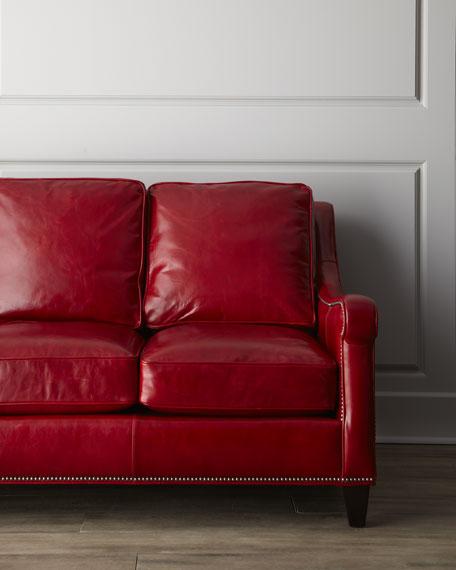 """Hervey"" Leather Sofa"