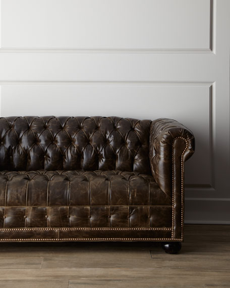 """St. Andrews"" Leather Sofa"