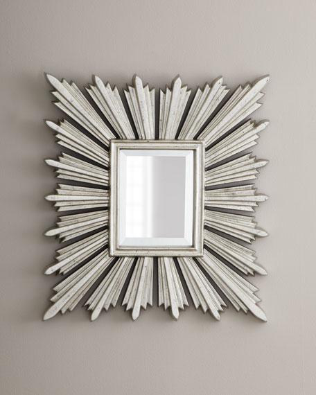 Silver-Leafed Sunburst Mirror