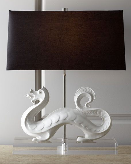 Jonathan Adler White Dragon Lamp