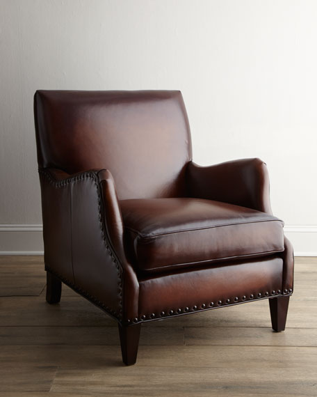 """Arrigo"" Leather Chair"