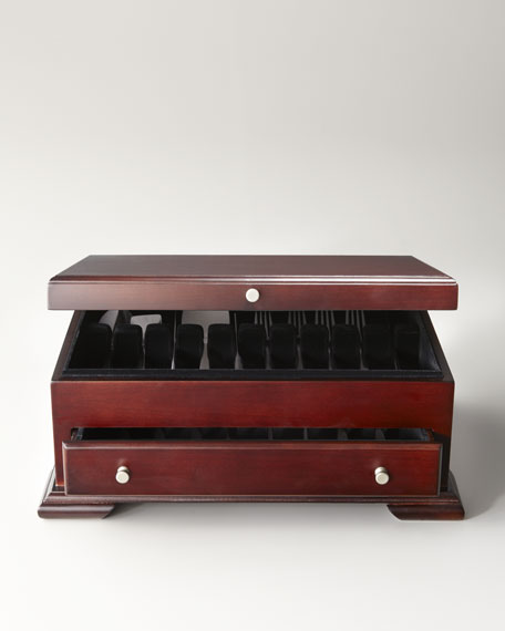 Dark Walnut Flatware Chest