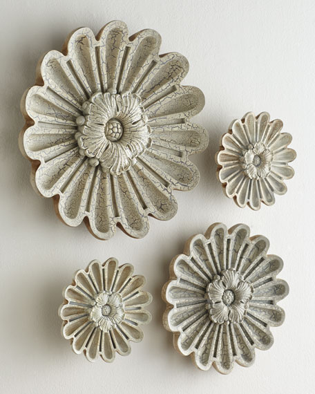 "Four-Piece ""Elizabeth"" Floral Wall Decor"