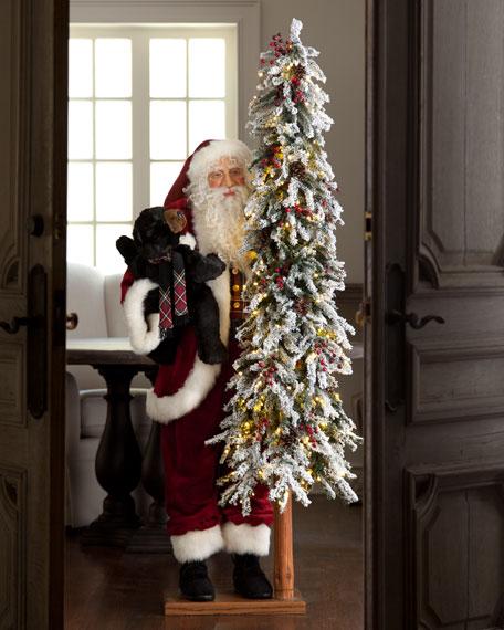 """Plaid Celebration"" Santa Claus"