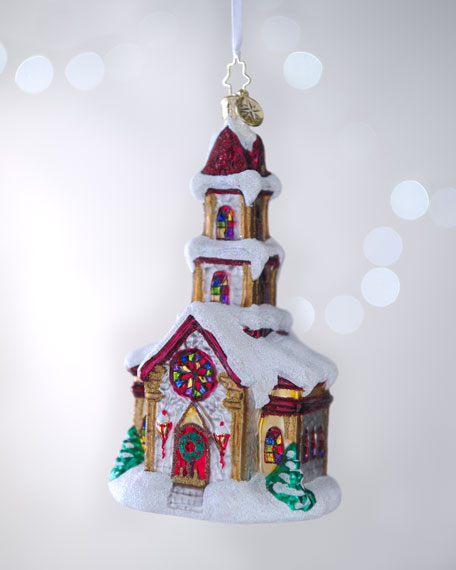 """""""Country Cathedral"""" Christmas Ornament"""