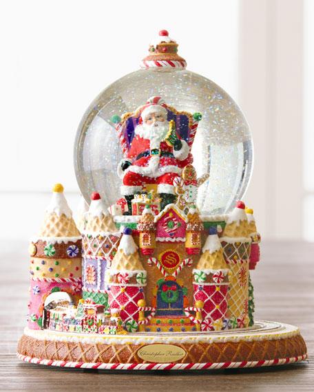 """""""Santa and Sweet Treats"""" Snow Globe"""