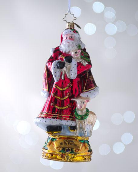 """O Come All Ye Faithful"" Christmas Ornament"