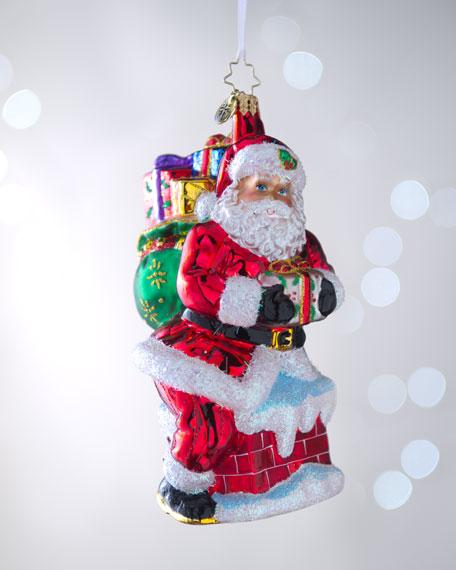 """Down the Chute"" Christmas Ornament"