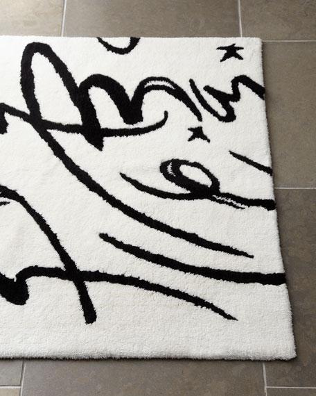 """""""Calligraphy"""" Bath Rug"""