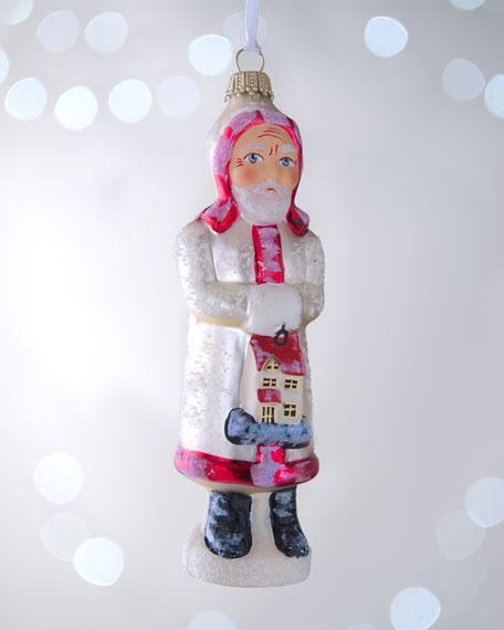 """Homecoming Santa"" Christmas Ornament"