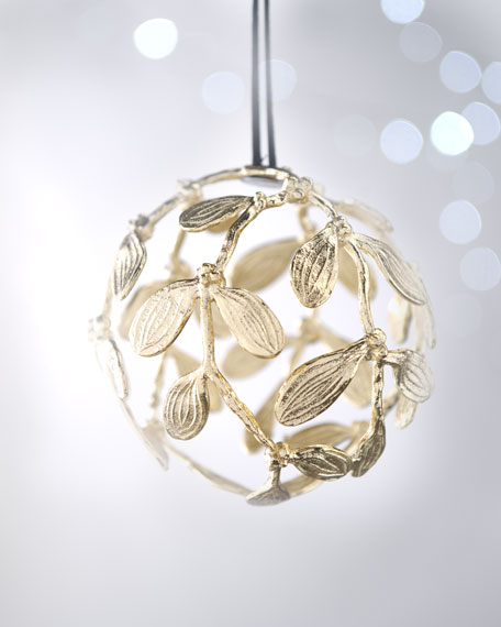 """Mistletoe"" Globe Christmas Ornament"