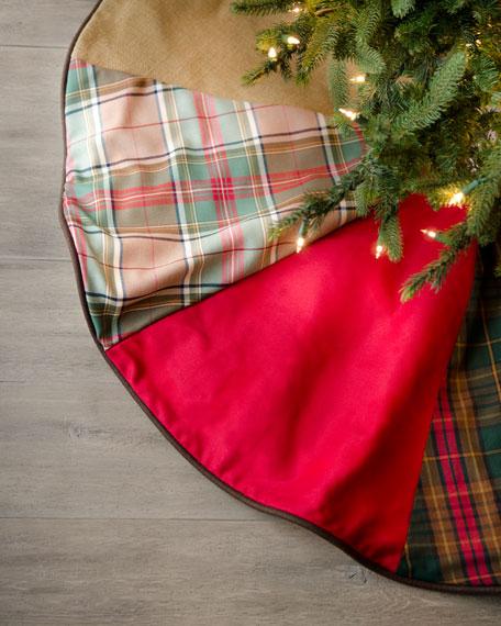 """""""Alpine"""" Burlap Christmas Tree Skirt"""