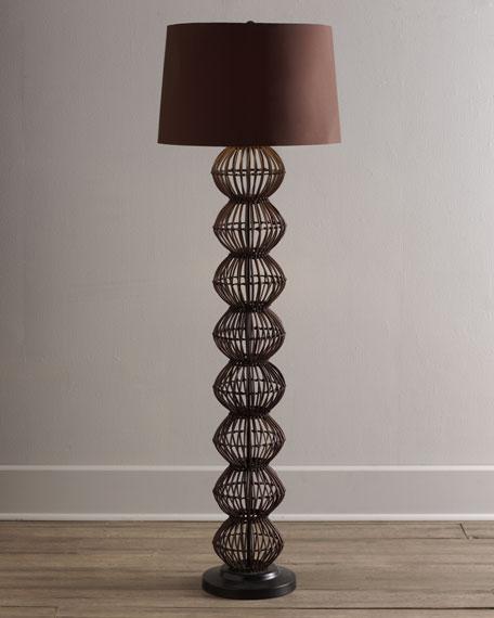 Rattan Globe Floor Lamp
