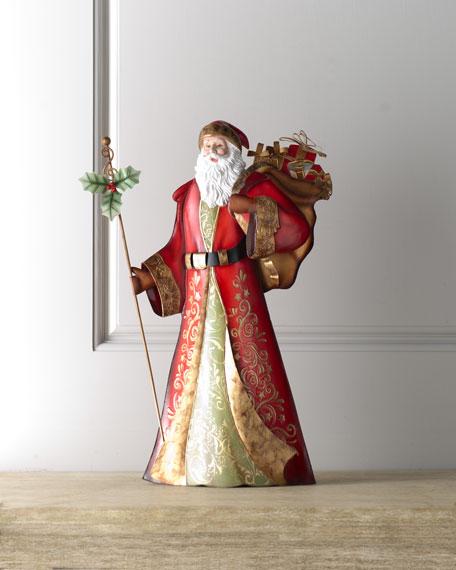 """Bordeaux"" Santa with Staff"
