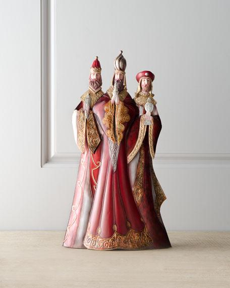 """""""Bordeaux"""" Elegant Three Kings Figure"""
