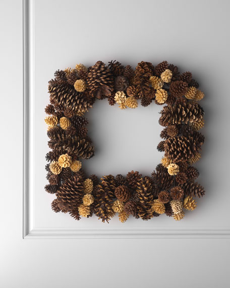 Square Pine Cone Wreath
