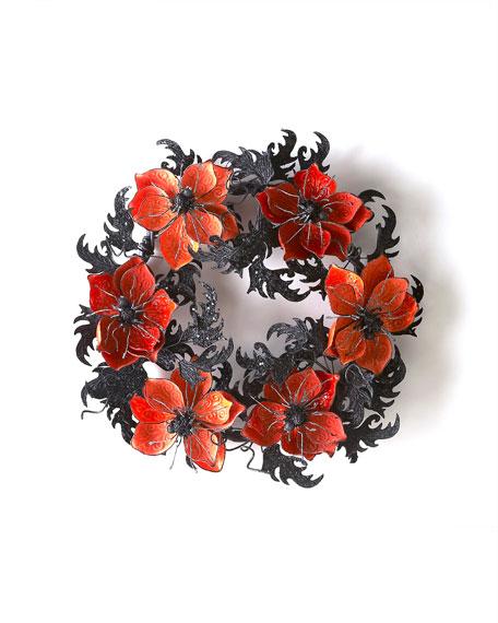 Spider & Flower Wreath