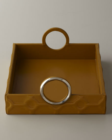 Yellow Leather Tray
