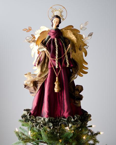 """Bordeaux"" Angel Christmas Tree Topper"