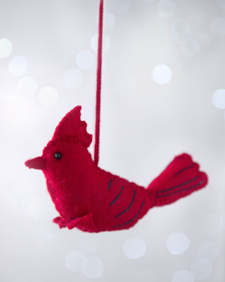 """Artisan"" Cardinal Christmas Ornament"
