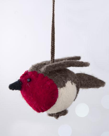 """""""Artisan"""" Little Fat Bird Christmas Ornament"""