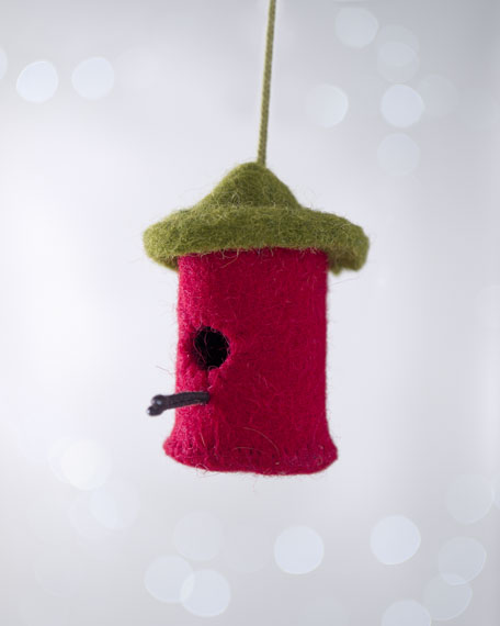 """Artisan"" Birdhouse Christmas Ornament"